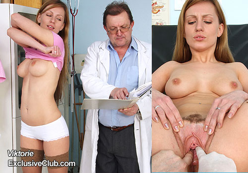 Awesome blonde Viktorie clinic porn movie HD